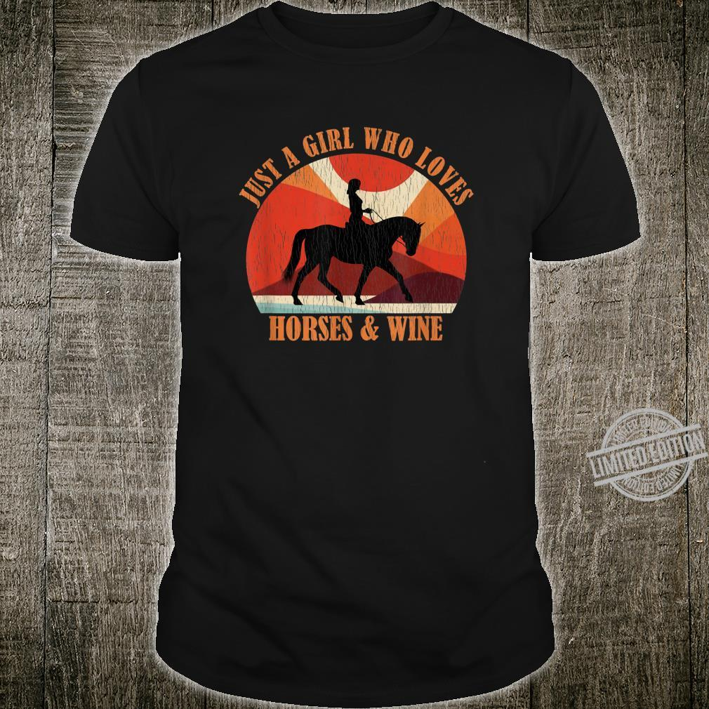 Just A Girl Who Loves Horses & Loves Wine Distressed Shirt
