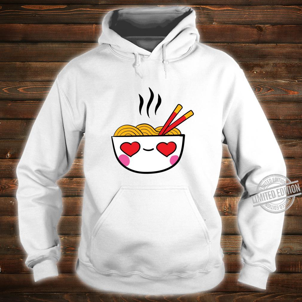 Kawaii Ramen Bowl with Heart Valentines Day Shirt hoodie