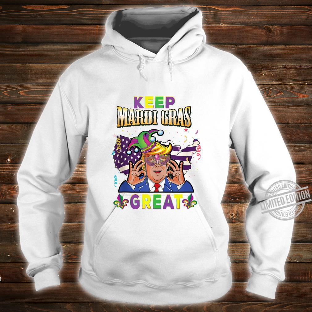 Keep Mardi Gras Great Shirt Trump American Flag Shirt hoodie