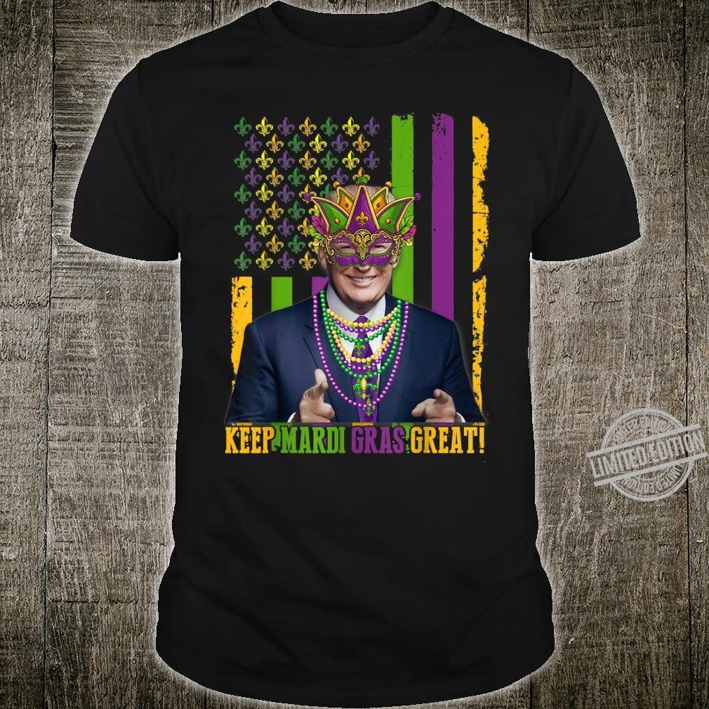 Keep Mardi Gras GreatAmerican Flag Trump Mardi Gras 2020 Shirt