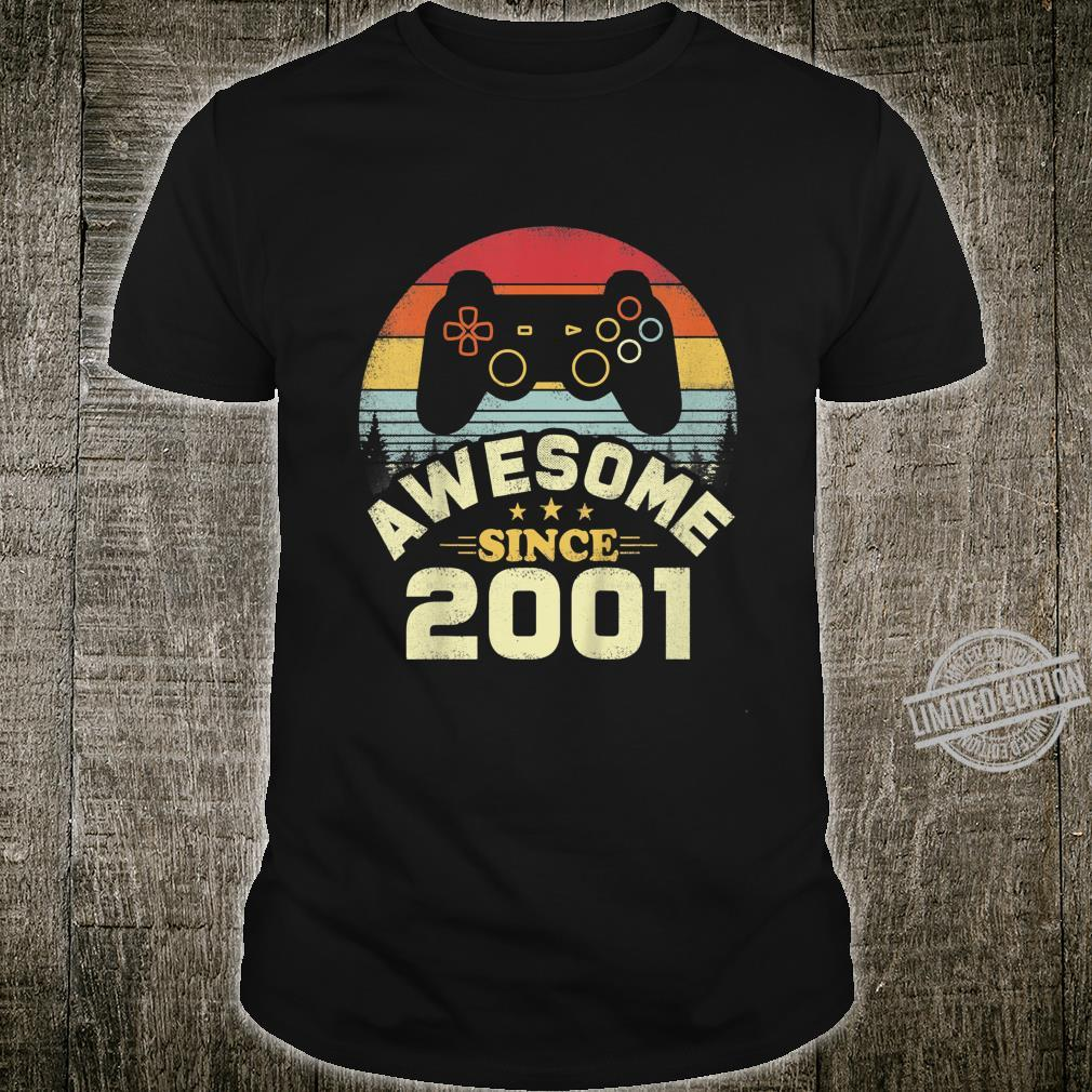 Kids 19 Years Old Awesome 2001 Video Game Birthday Shirt