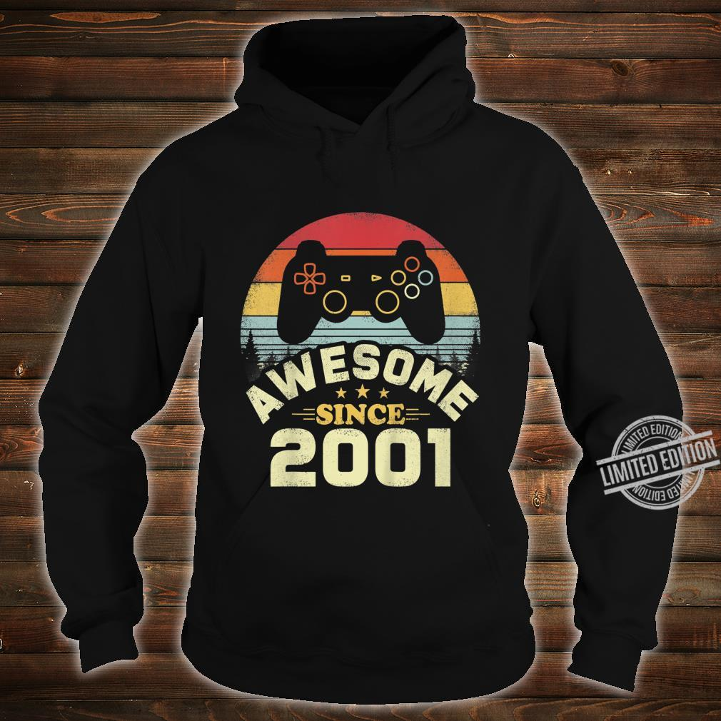 Kids 19 Years Old Awesome 2001 Video Game Birthday Shirt hoodie