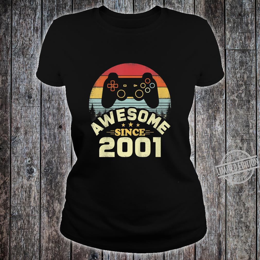 Kids 19 Years Old Awesome 2001 Video Game Birthday Shirt ladies tee