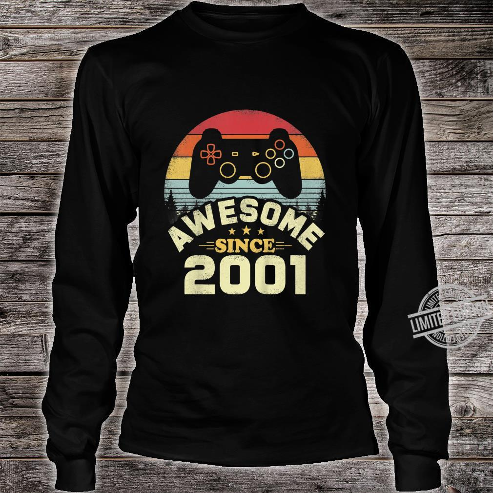 Kids 19 Years Old Awesome 2001 Video Game Birthday Shirt long sleeved