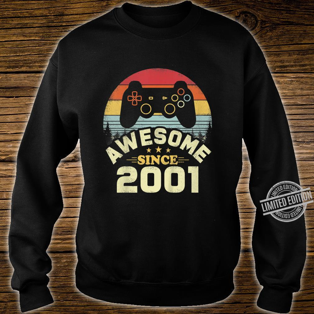 Kids 19 Years Old Awesome 2001 Video Game Birthday Shirt sweater