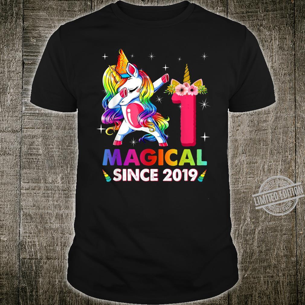 Kids 8 Years Old 8th Birthday Dabbing Unicorn Girls Shirt