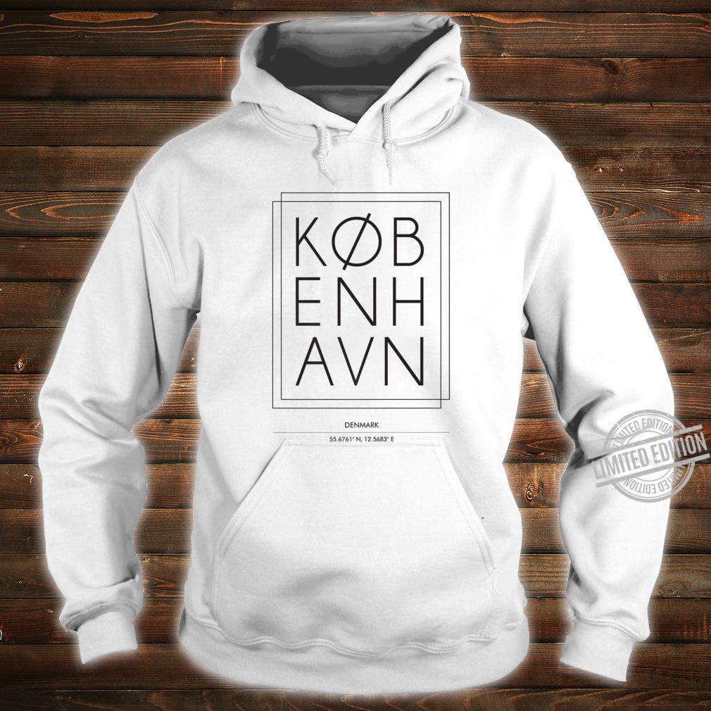 Kobenhavn Copenhagen Denmark Minimal City Typography Shirt hoodie
