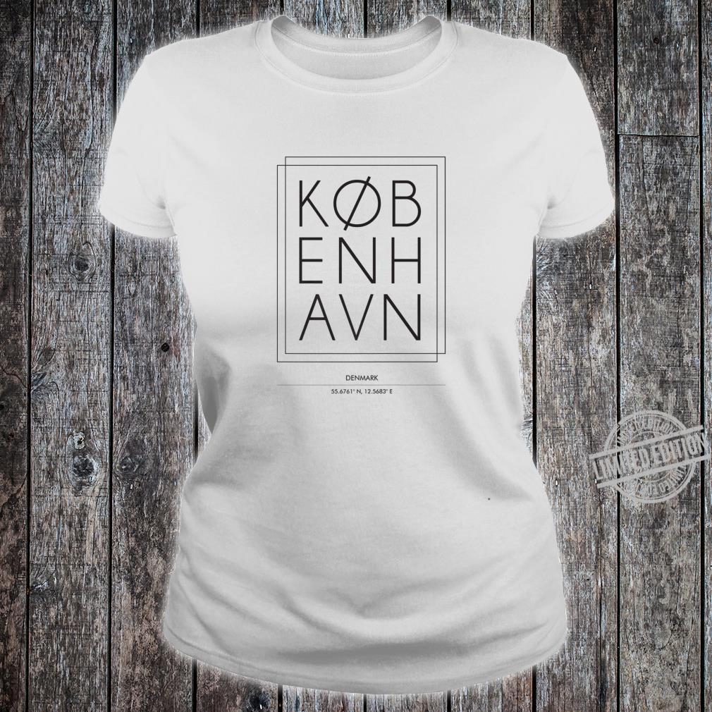 Kobenhavn Copenhagen Denmark Minimal City Typography Shirt ladies tee