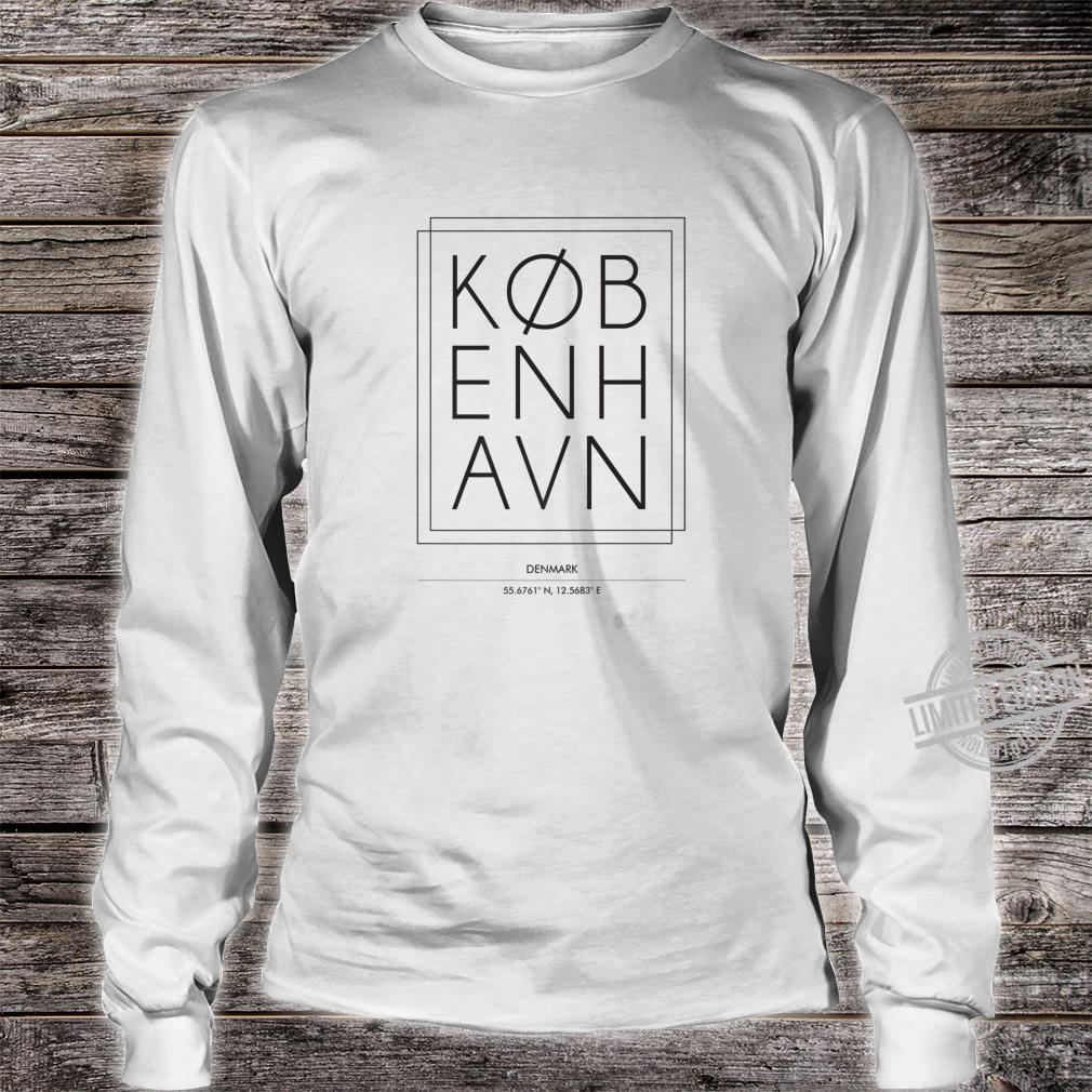 Kobenhavn Copenhagen Denmark Minimal City Typography Shirt long sleeved