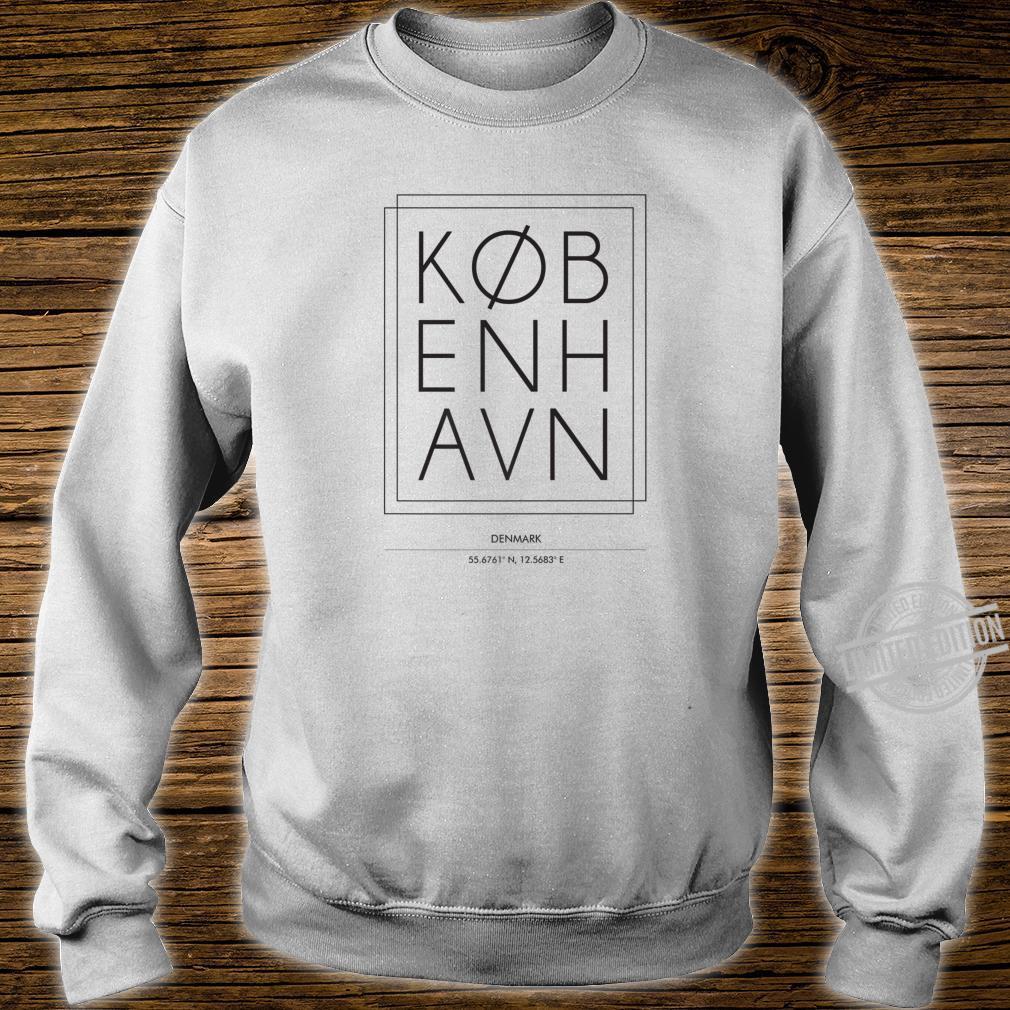 Kobenhavn Copenhagen Denmark Minimal City Typography Shirt sweater