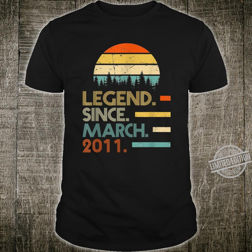 Legend Since March 2011 9th Birthday 9 Year Old Shirt