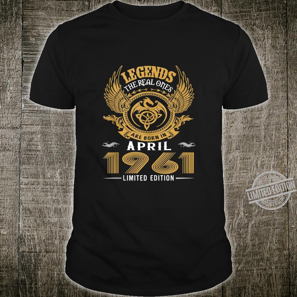 Legends 59th Birthday Idea Born in March 1961 Shirt