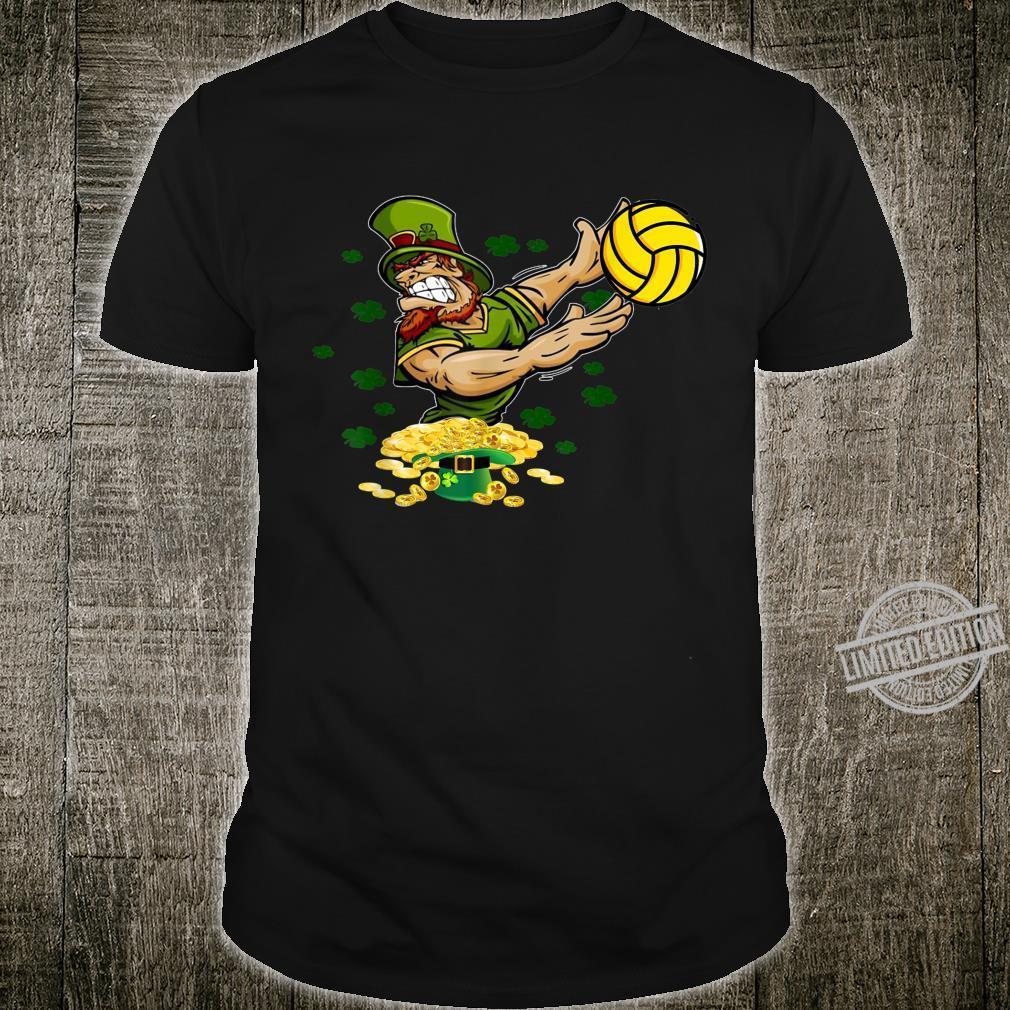 Leprechaun Playing Volleyball Irish Shamrocks Patrick's Day Shirt