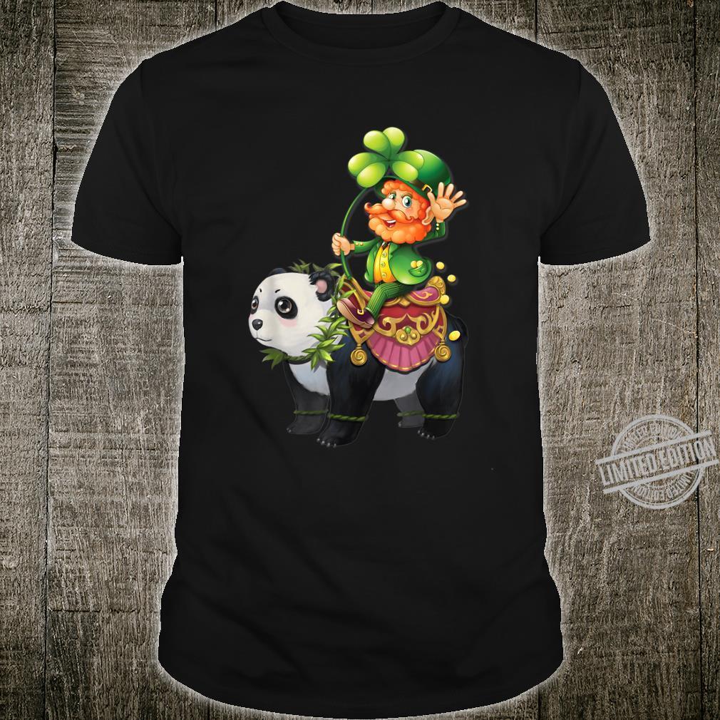 Leprechaun Riding Panda St Patrick's Day Shirt