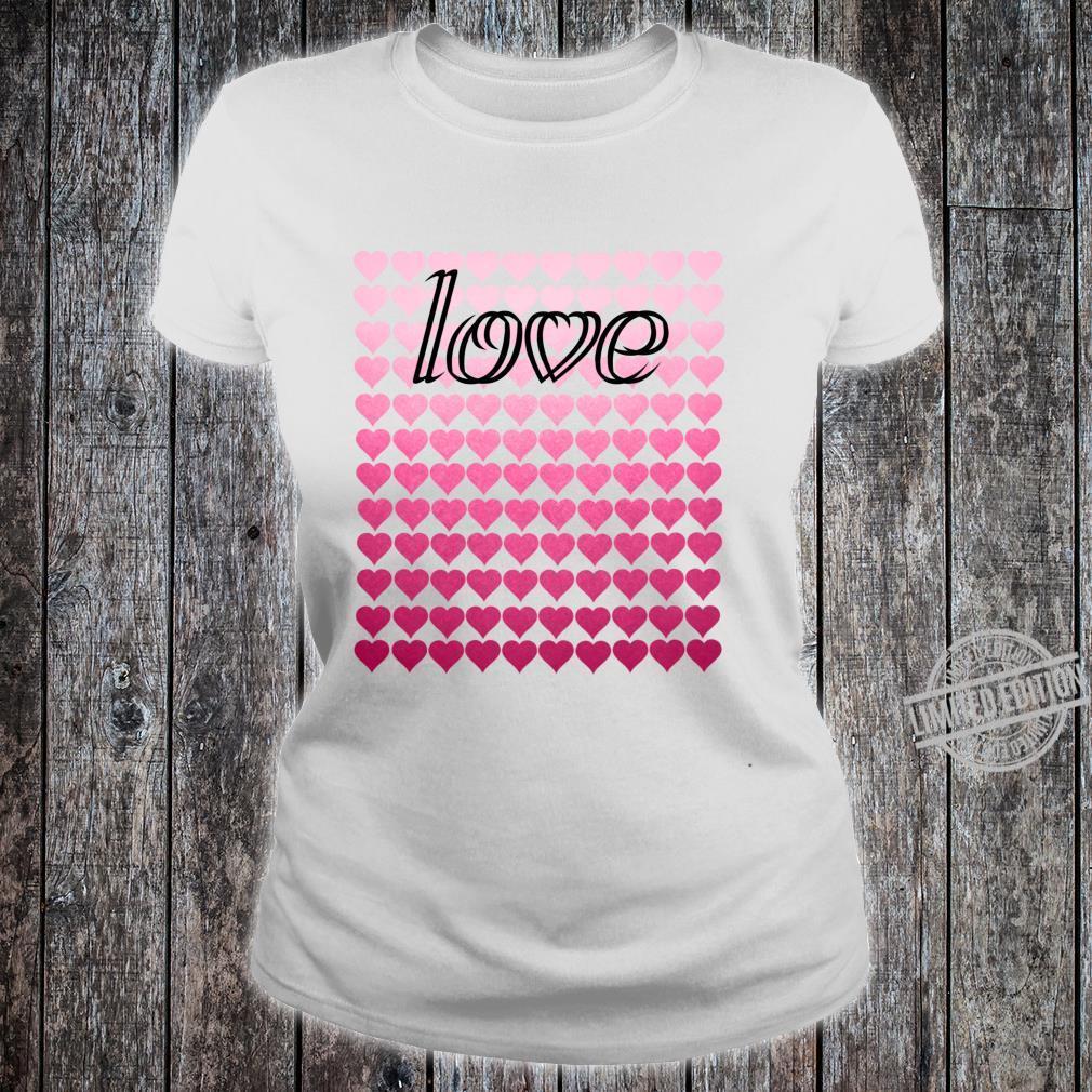 Liebesherzen Valentinstag Langarmshirt Shirt ladies tee