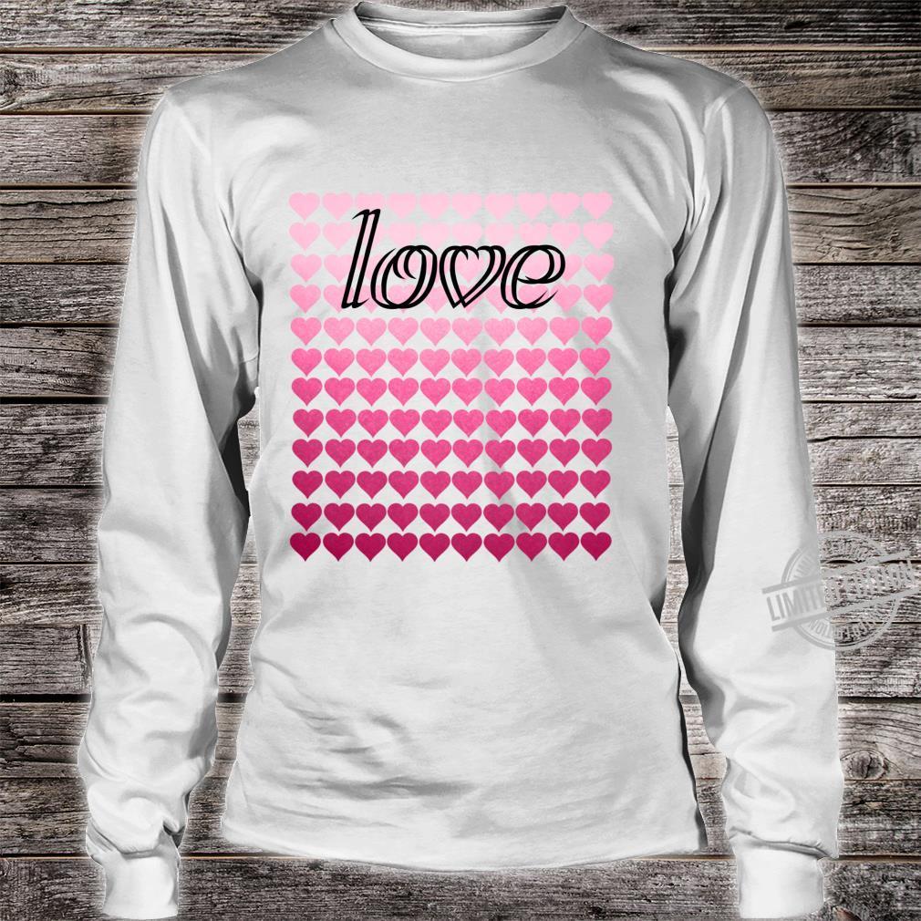 Liebesherzen Valentinstag Langarmshirt Shirt long sleeved
