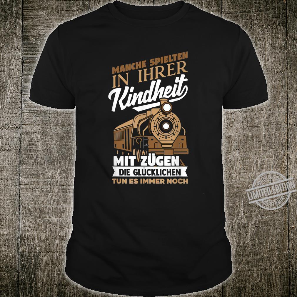 Lokführer Zug Eisenbahn Eisenbahner Kindheit Geschenk Shirt