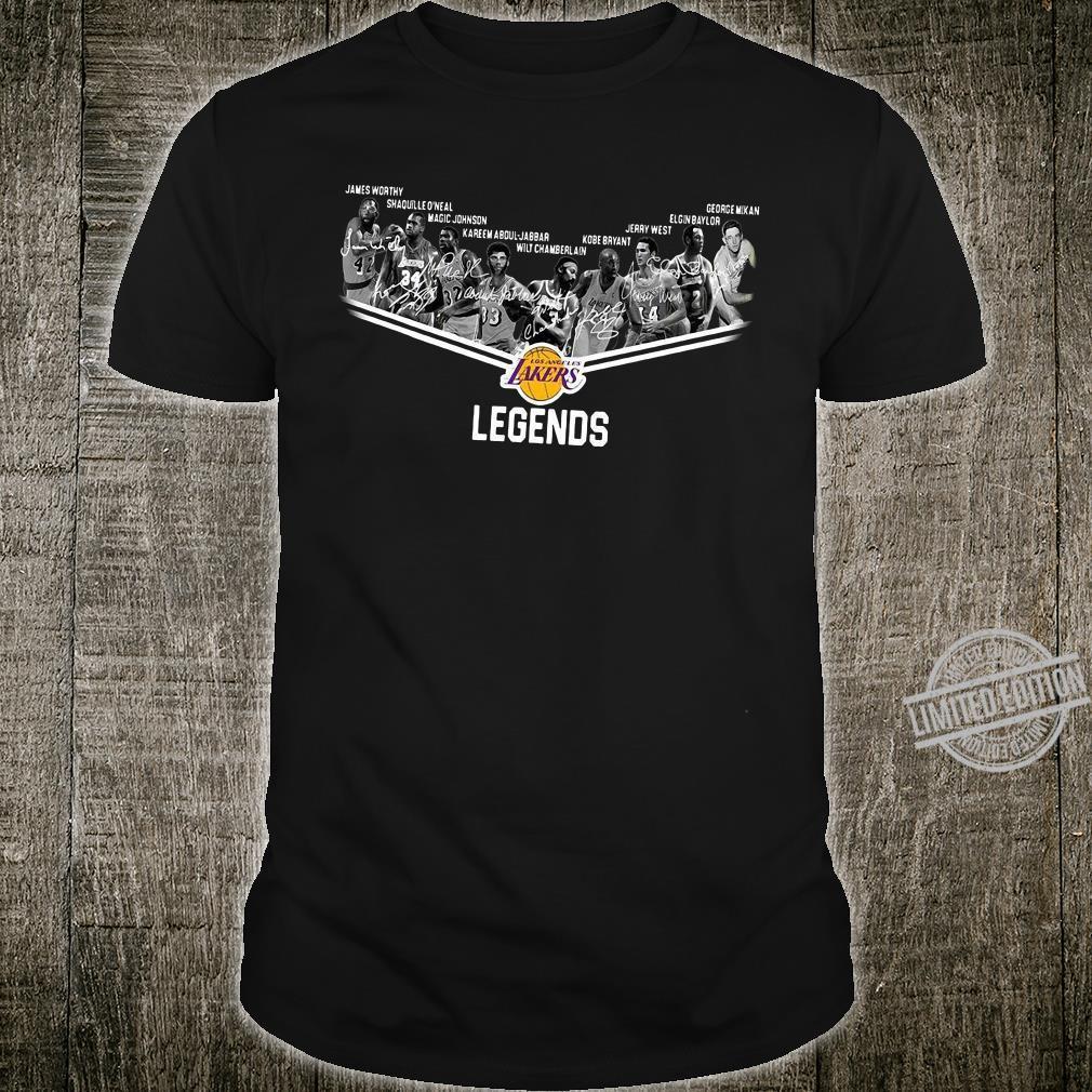 Los Angeles Lakers legends signatures shirt