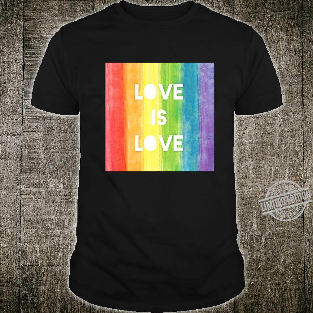 Love Is Love Gay Lesbian LGBT Pride Rainbow Shirt