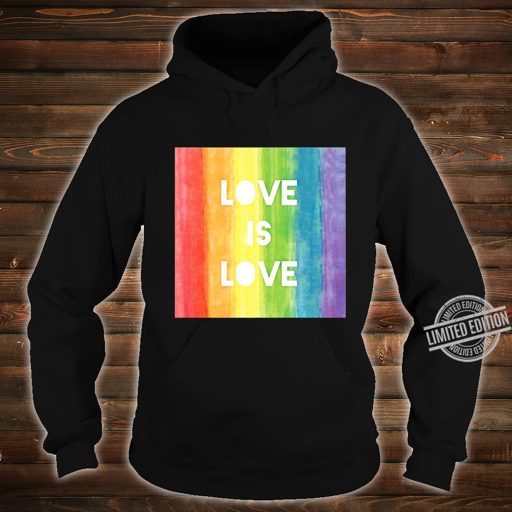 Love Is Love Gay Lesbian LGBT Pride Rainbow Shirt hoodie