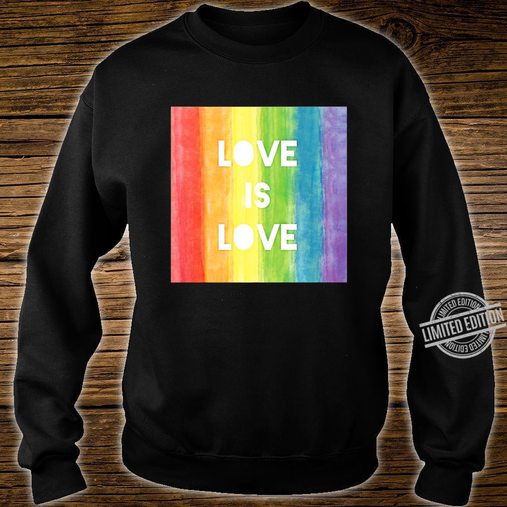Love Is Love Gay Lesbian LGBT Pride Rainbow Shirt sweater