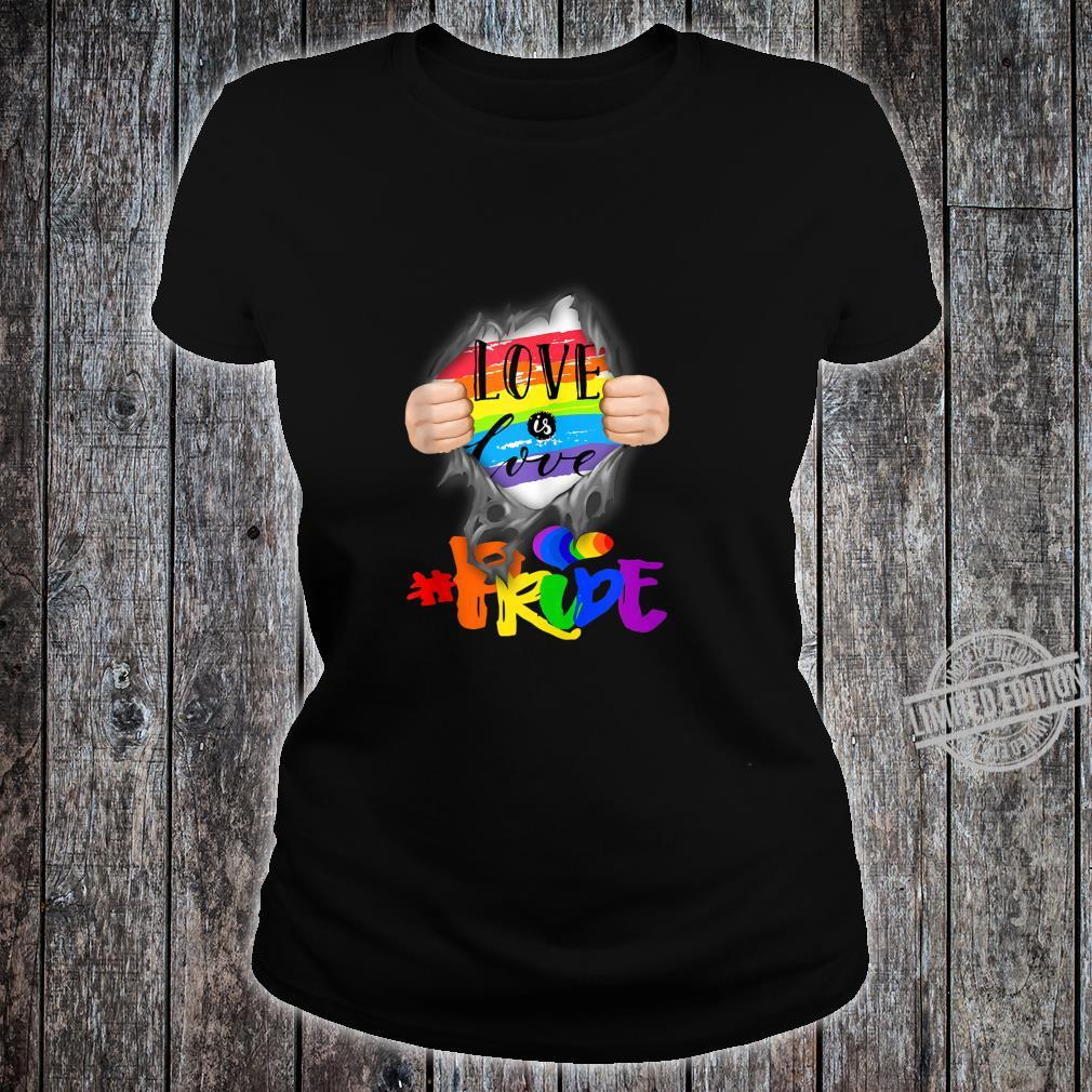 Love Is Love #Pride Super Human Shirt ladies tee