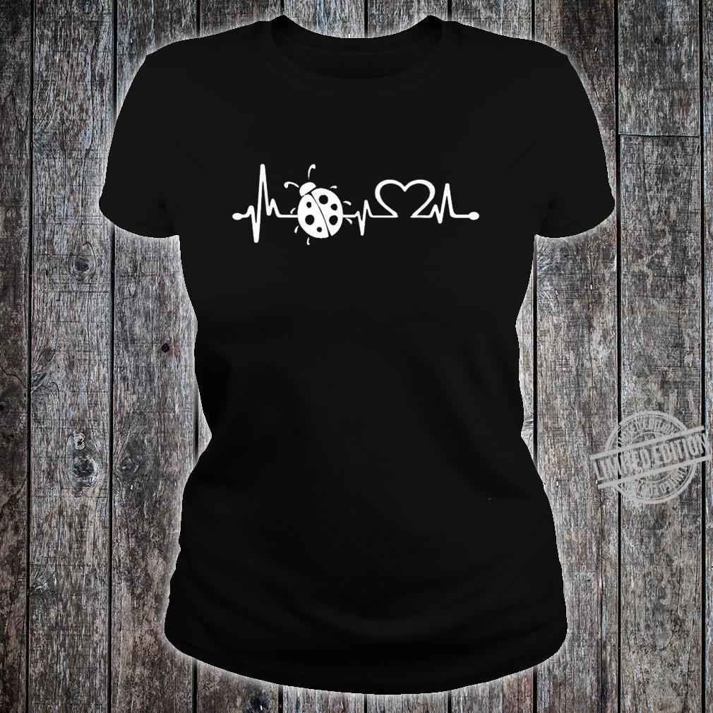 Love ladybugs heartbeat Shirt ladybugs girl Shirt ladies tee