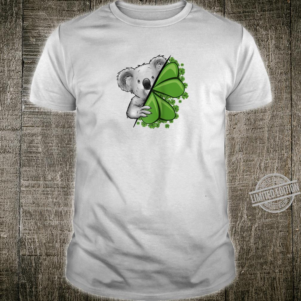 Lucky Irish Koala Clover & Shamrocks St Pattys Day Shirt