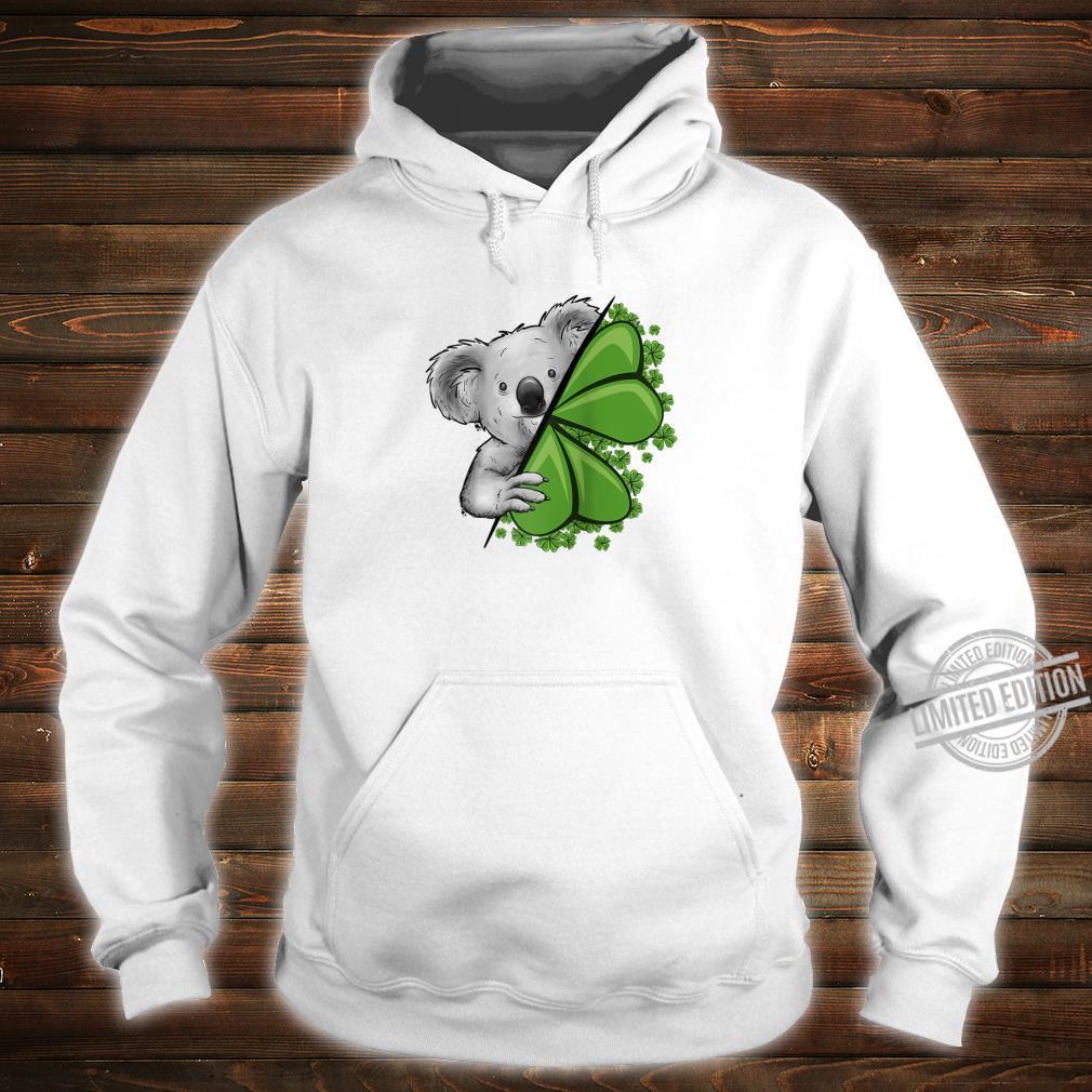Lucky Irish Koala Clover & Shamrocks St Pattys Day Shirt hoodie