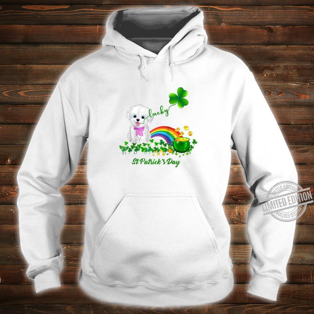 Lucky Saint Bichon Frise Dog Shamrock St Patrick Day Shirt hoodie