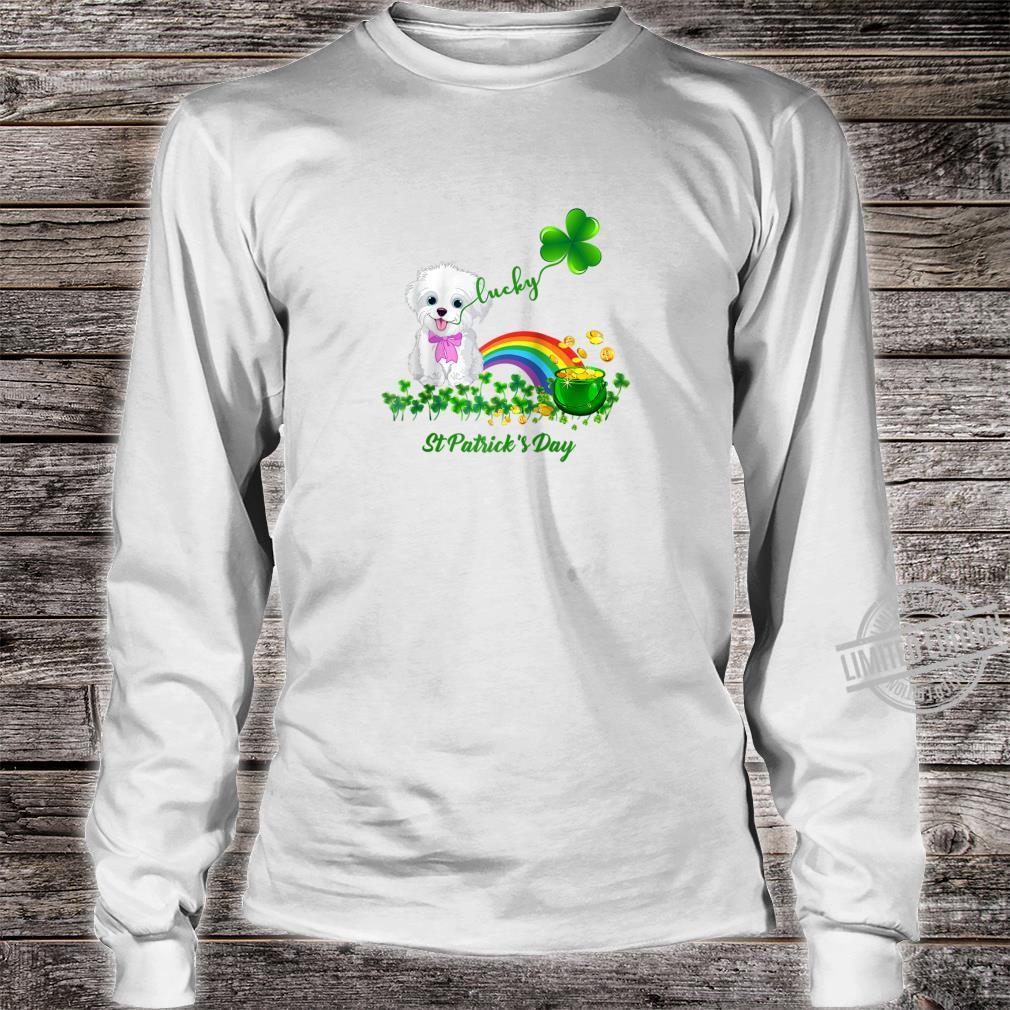 Lucky Saint Bichon Frise Dog Shamrock St Patrick Day Shirt long sleeved