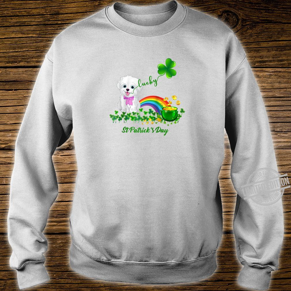 Lucky Saint Bichon Frise Dog Shamrock St Patrick Day Shirt sweater