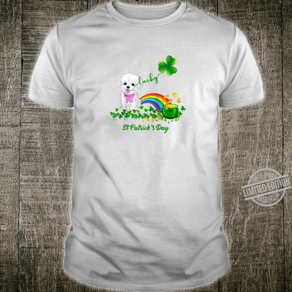 Lucky Saint Bichon Frise Dog Shamrock St Patrick Day Shirt