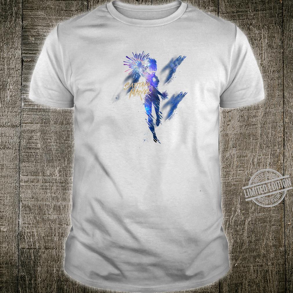 Marvel Captain Marvel Silhouette Watercolor Poster Shirt