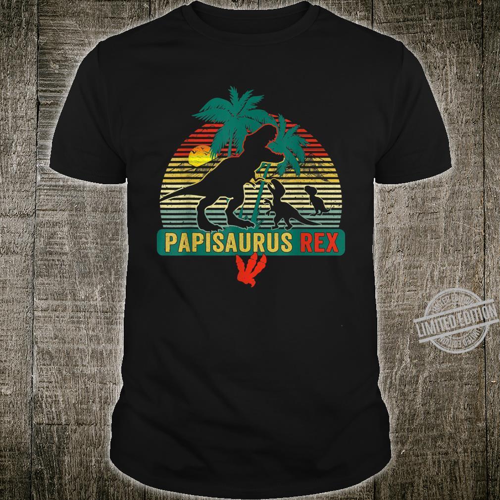 Mens Retro Vintage Papisaurus Rex Family Father's Day Shirt