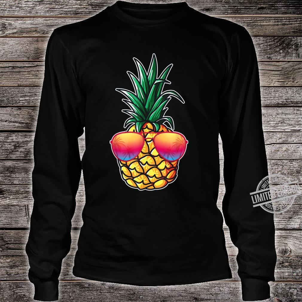 Mit Ananas Damen, Herren Aloha Beaches Kostüm Karneval Shirt long sleeved