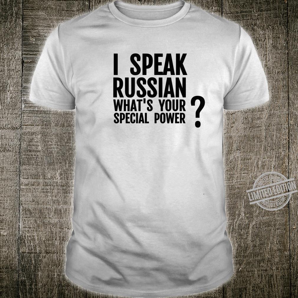 Mother Russia I Speak Russian Language Pride Shirt