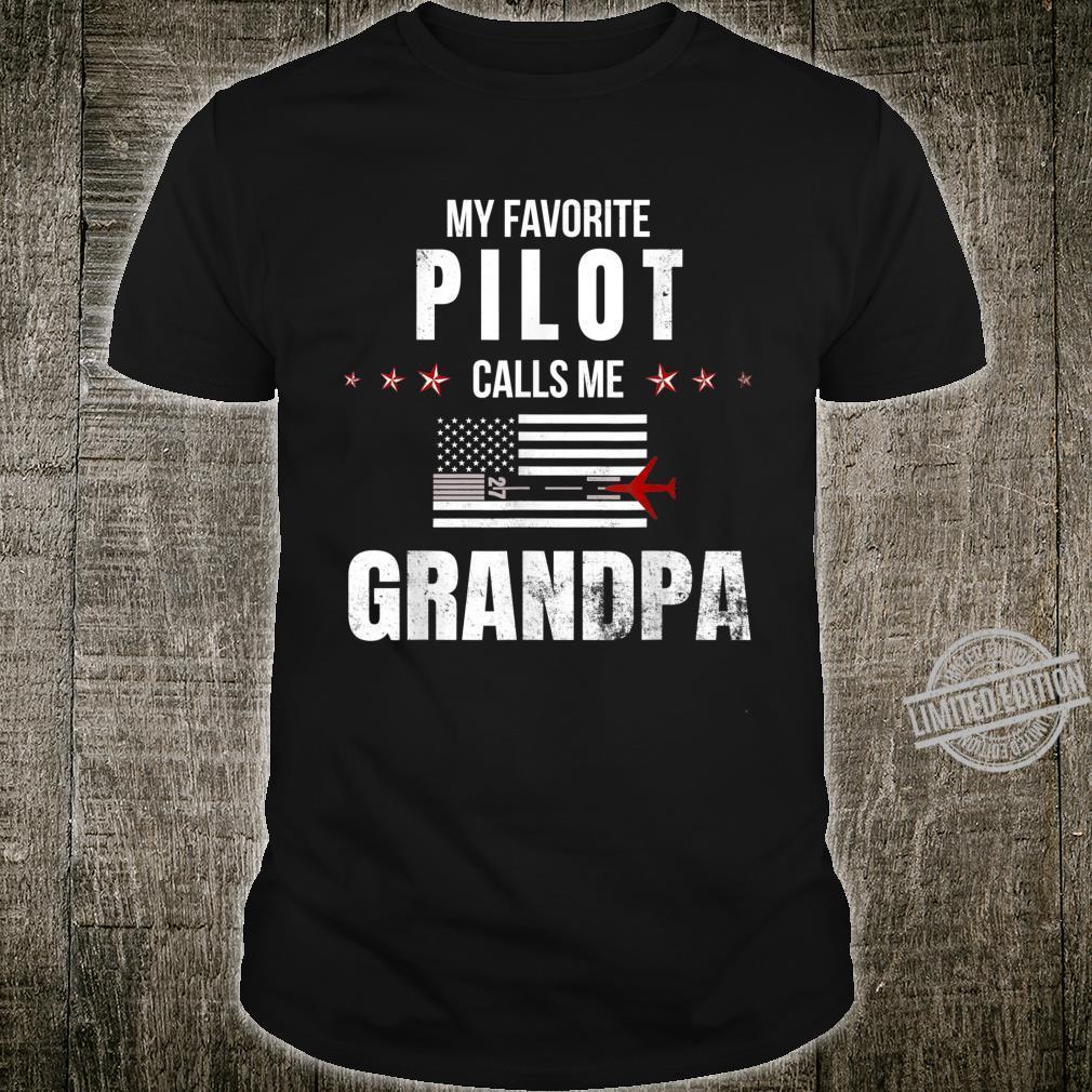 My Favorite Pilot Calls Me Grandpa Father's Day Shirt