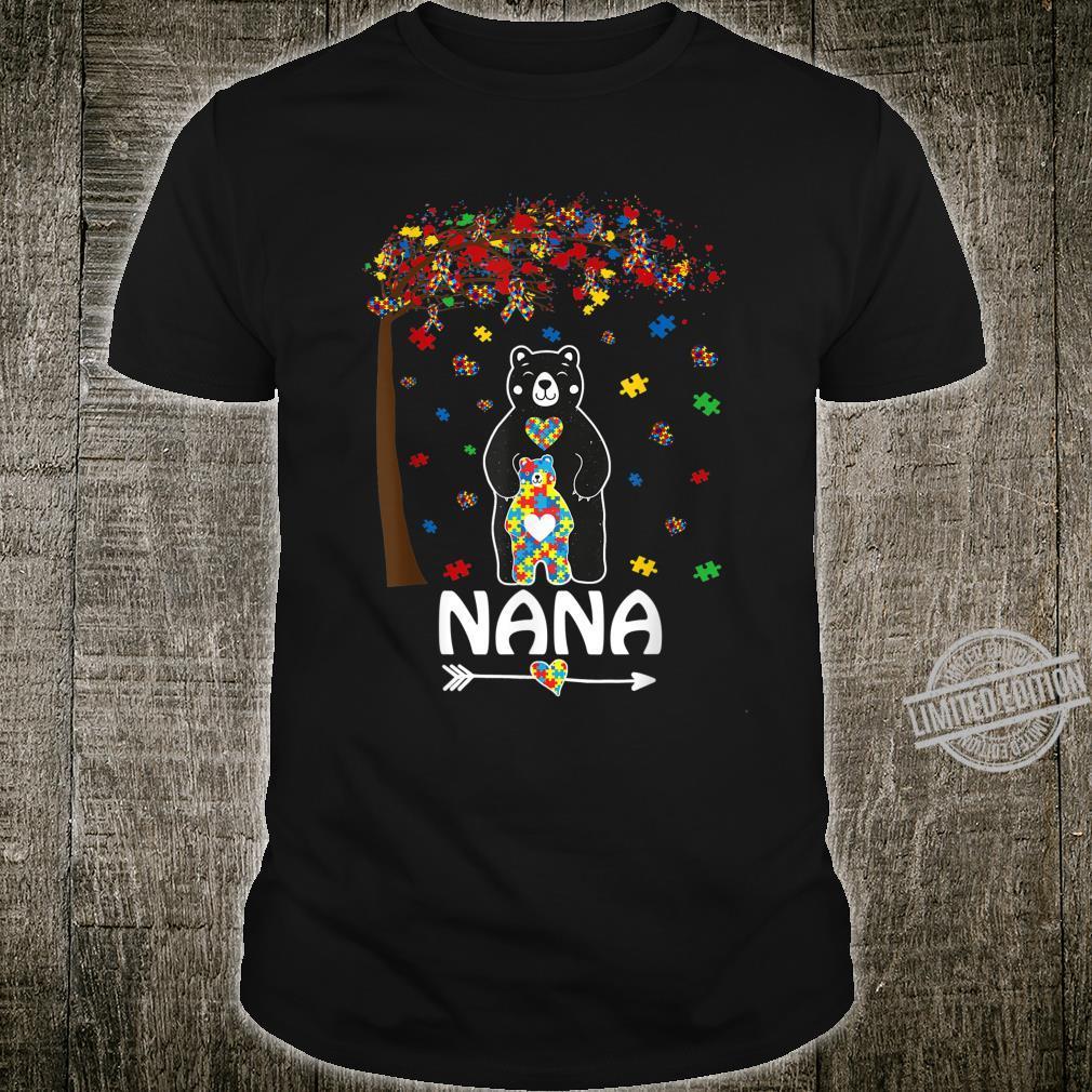 Nana Bear Autism Awareness Love Support Autism Mom Shirt