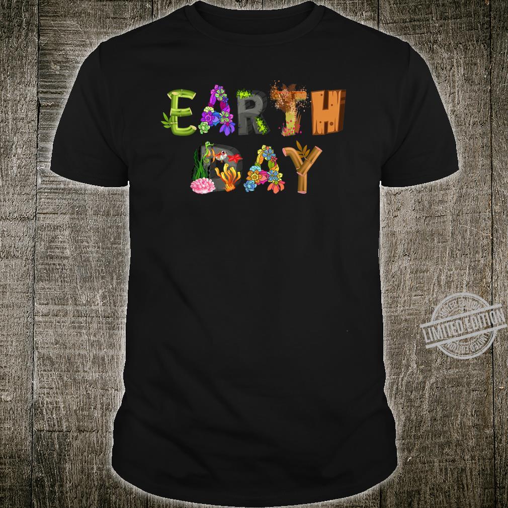 National Earth Day Earth Day Cute Animal Design Shirt