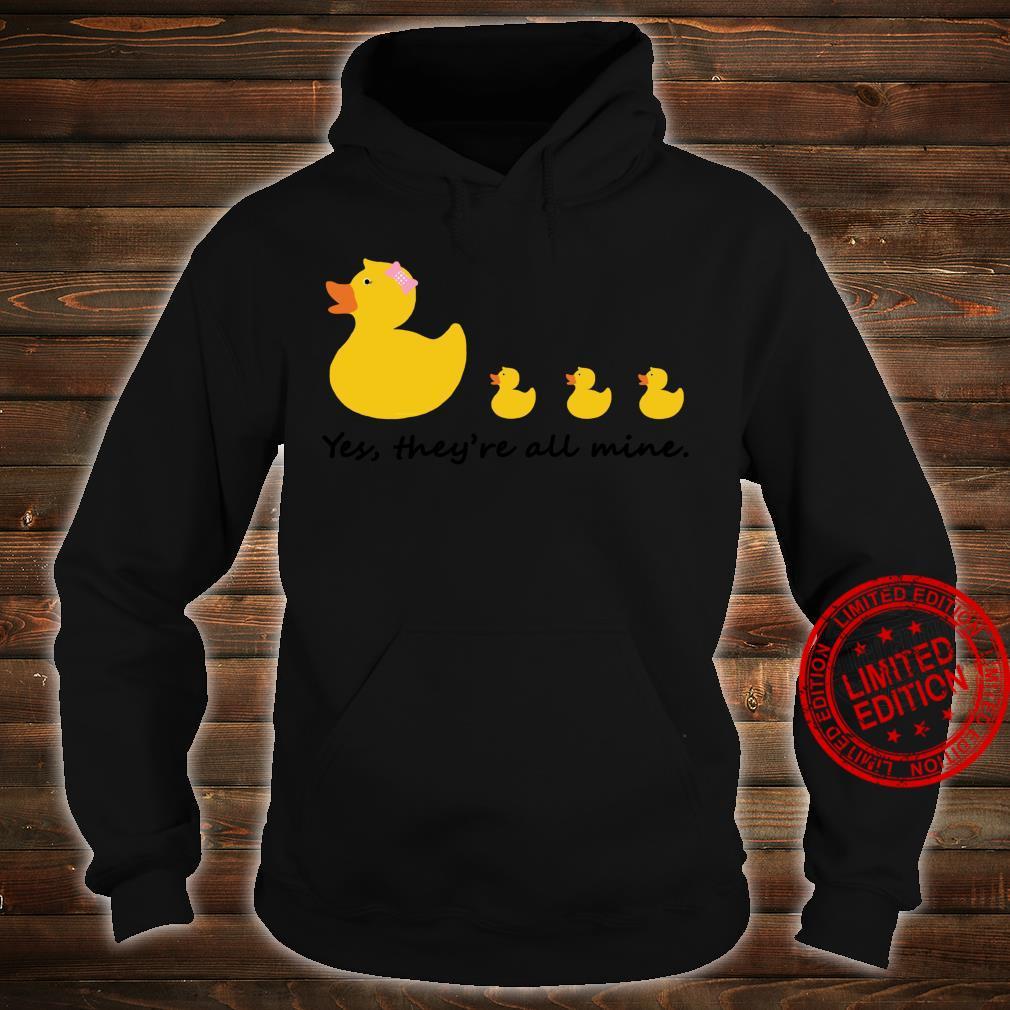 Nette Gummiente Mutter von drei Shirt hoodie