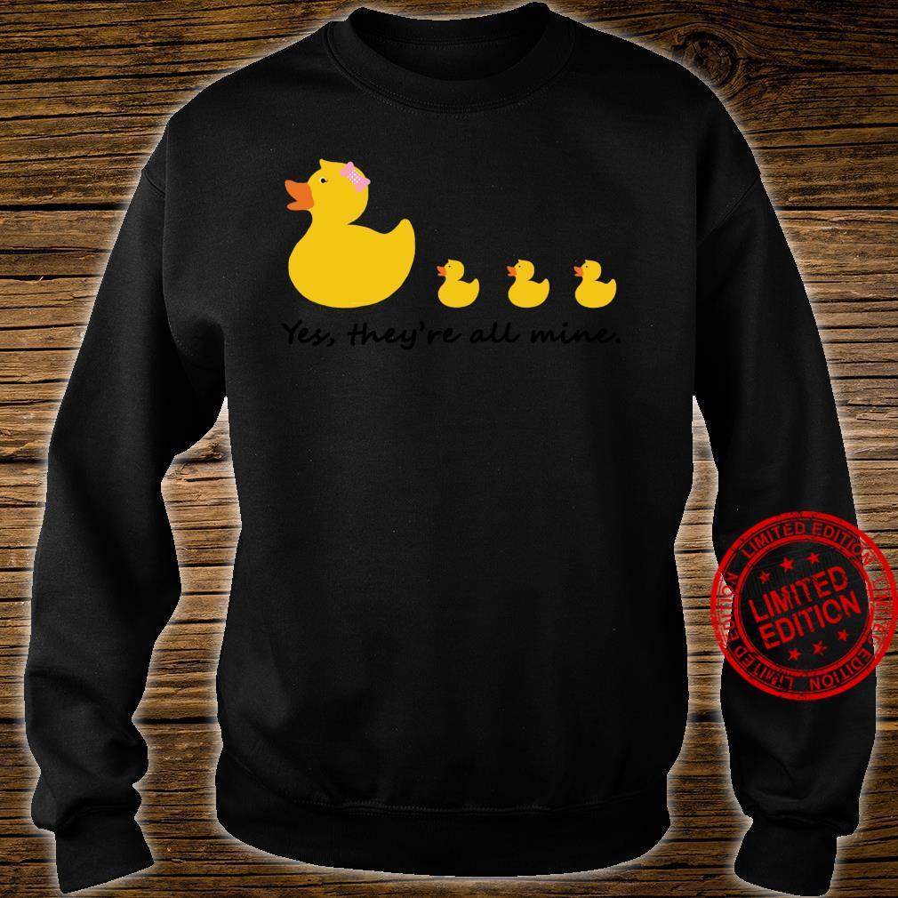 Nette Gummiente Mutter von drei Shirt sweater