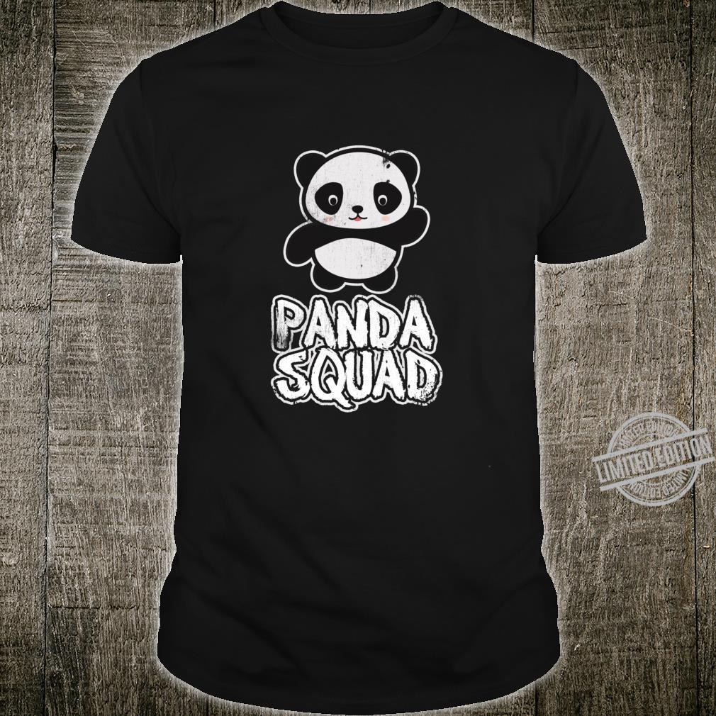 Panda squad cute panda bear christmas birthday shirt Shirt