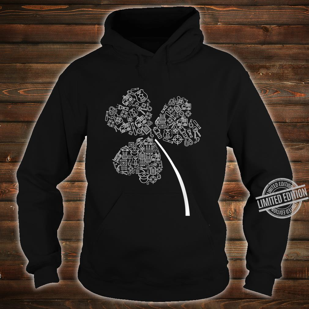 Police Officer St Patrick Clover Cops St Patricks Day Shirt hoodie