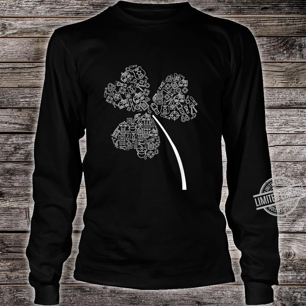 Police Officer St Patrick Clover Cops St Patricks Day Shirt long sleeved