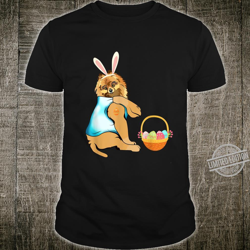 Pomeranian Easter Eggs Tattoo Happy Easter Day Shirt