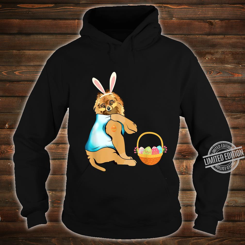 Pomeranian Easter Eggs Tattoo Happy Easter Day Shirt hoodie