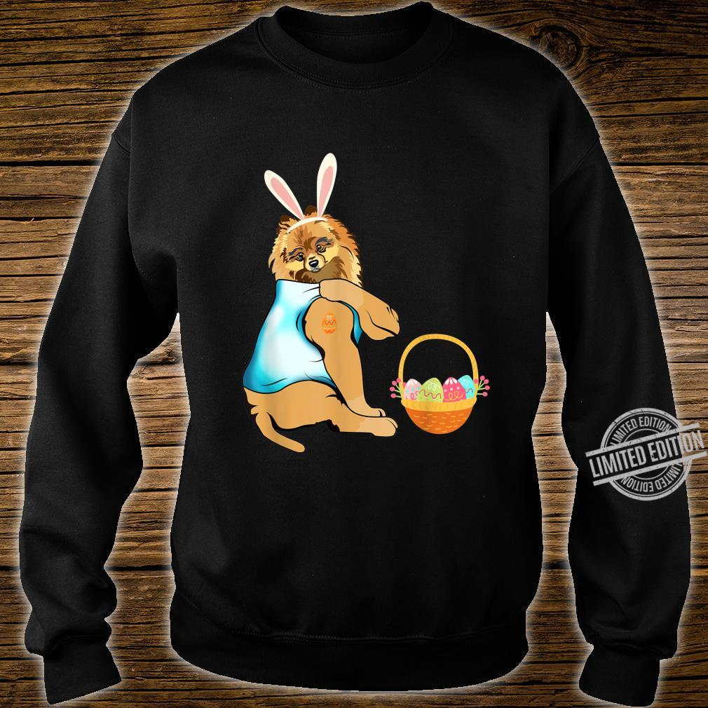 Pomeranian Easter Eggs Tattoo Happy Easter Day Shirt sweater