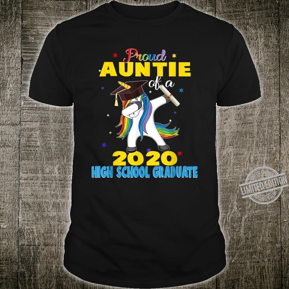 Proud Auntie of a 2020 High School Graduate Unicorn Shirt