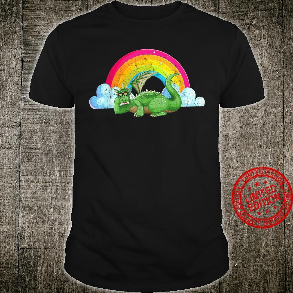 Regenbogen Natur Wolken Drache Shirt
